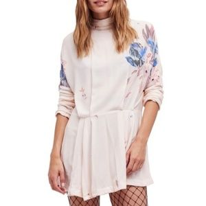 NWT Free People Gemma Floral Mini Dress